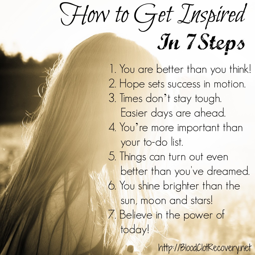 Seven Steps to Inspiration listed out